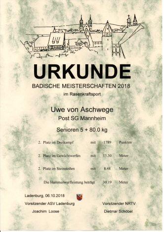Urkunde-Badische_Uwe